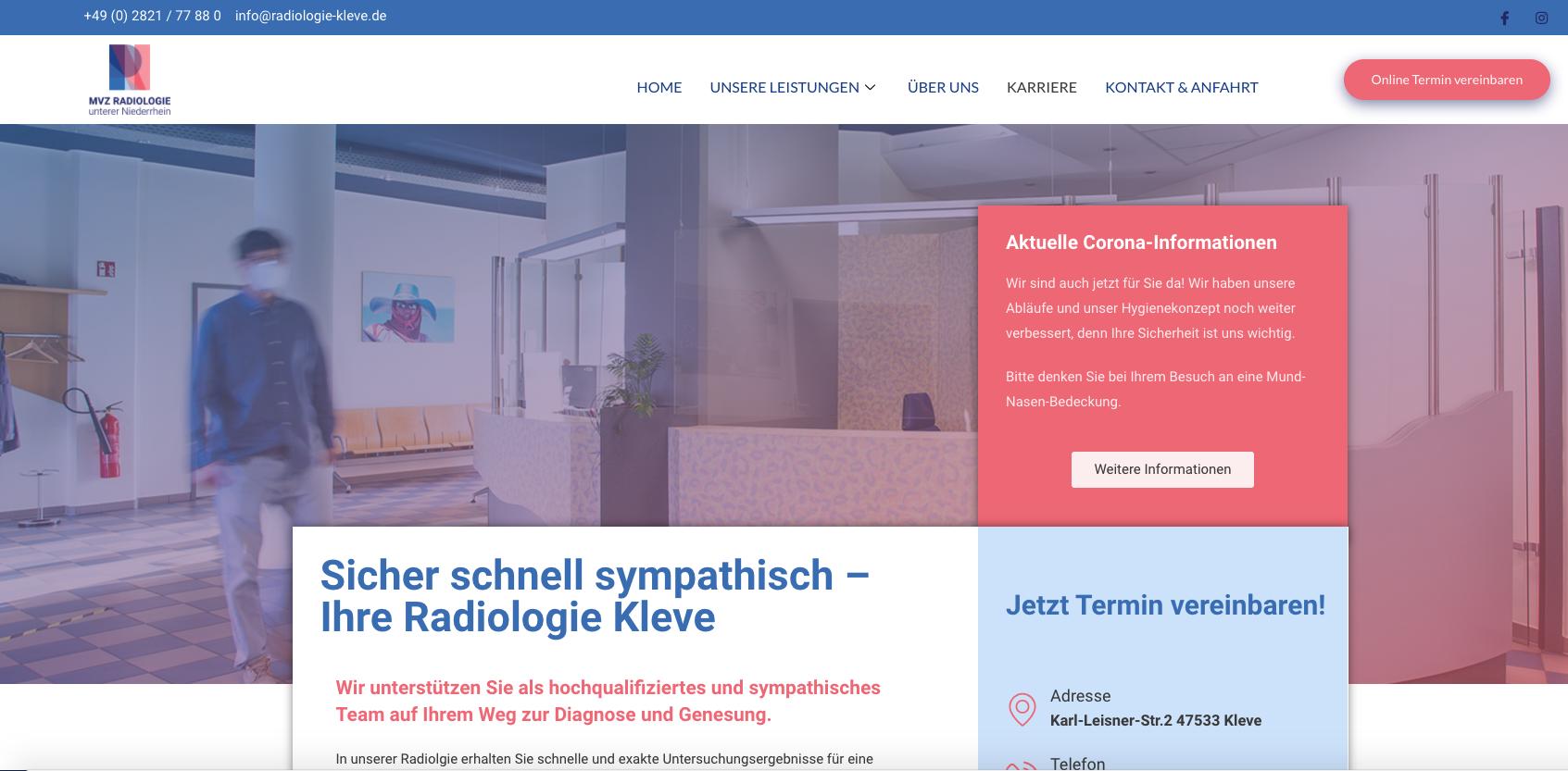 MVZ Radiologie Unterer Niederrhein mit neuer Website